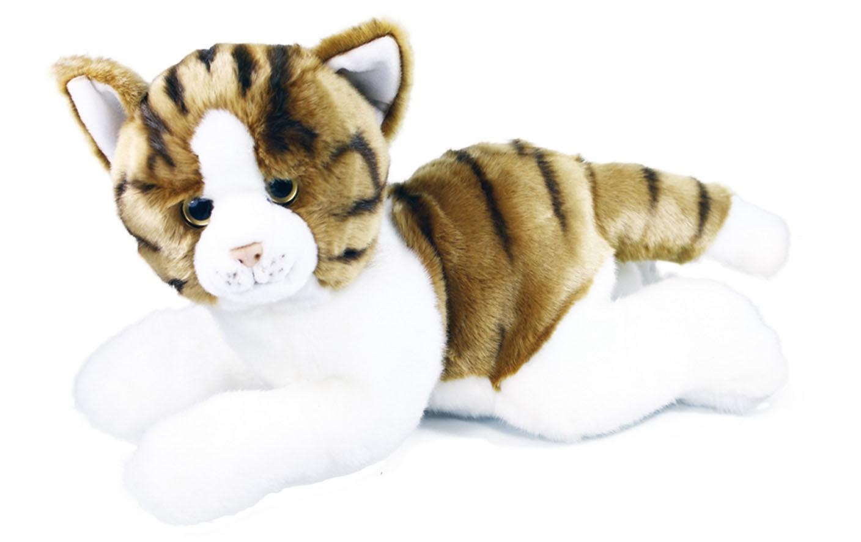 plyšová kočka ležící, 50 cm