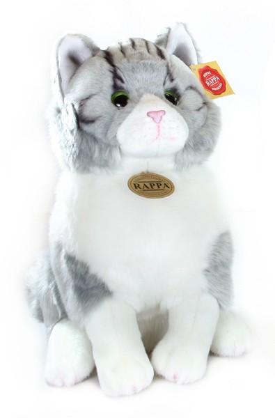 plyšová kočka sedící, 31 cm