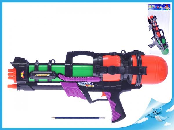 Vodní pistole 59cm s pumpou 2barvy v sáčku
