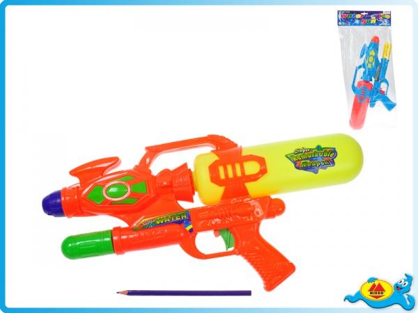 Vodní pistole s pumpou 42cm 2barvy v sáčku