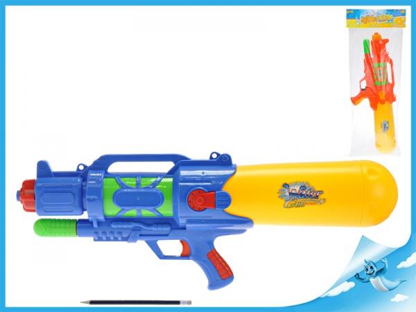 Vodní pistole 62cm s pumpou 2barvy v sáčku