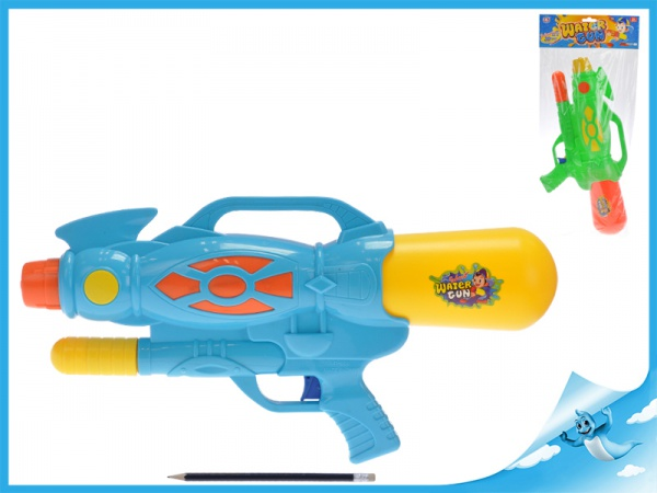 Vodní pistole 48cm s pumpou 2barvy v sáčku