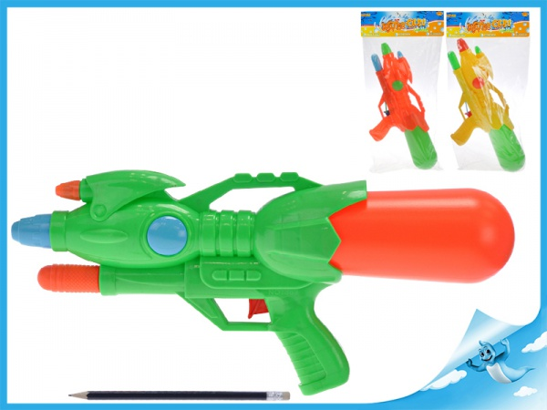 Vodní pistole 43cm s pumpou 3barvy v sáčku