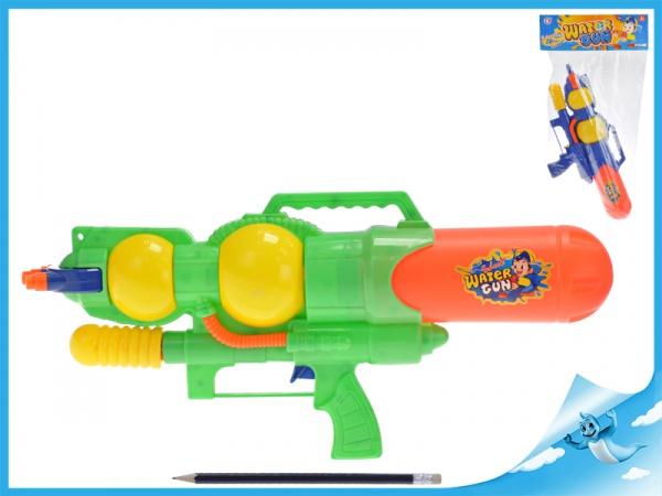 Vodní pistole 39cm s pumpou 2barvy v sáčku