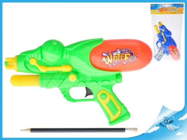 Vodní pistole 29cm s pumpou 2barvy v sáčku