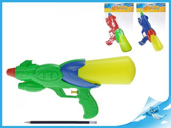 Vodní pistole 33cm 3barvy v sáčku