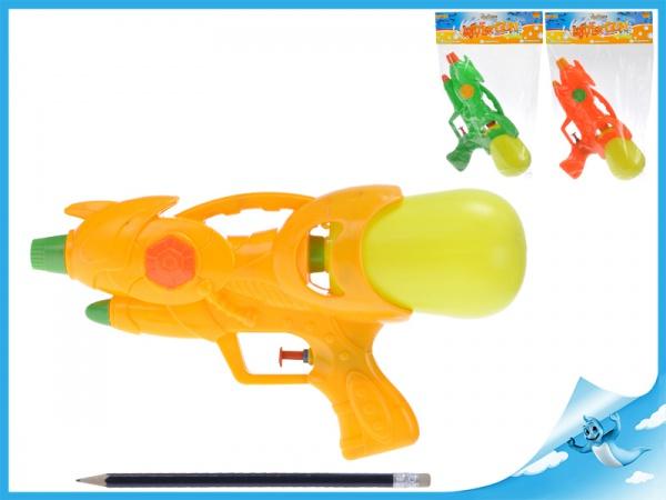 Vodní pistole 26cm 3barvy v sáčku