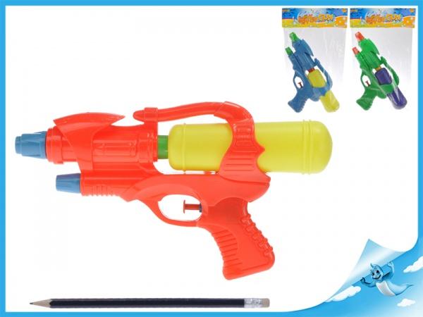 Vodní pistole 25cm 3barvy v sáčku