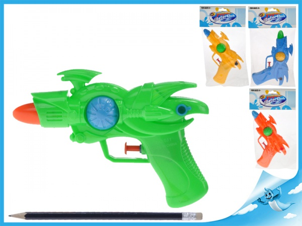 Vodní pistole 17cm 4barvy v sáčku