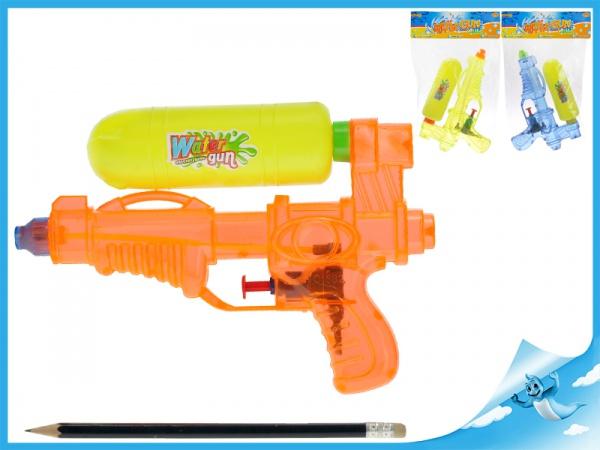Vodní pistole 19cm 3barvy v sáčku