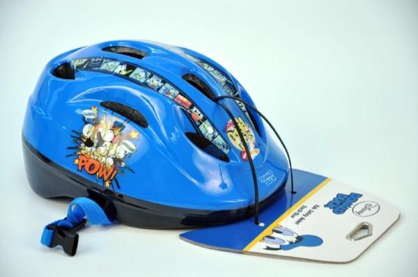 Cyklistická přilba na kolo Kačer Donald dětská modrá vel. 51-55 cm