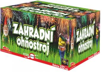 Zahradní ohňostroj 222 ran, 30 + 50 mm (rovný + šikmý moždíř)
