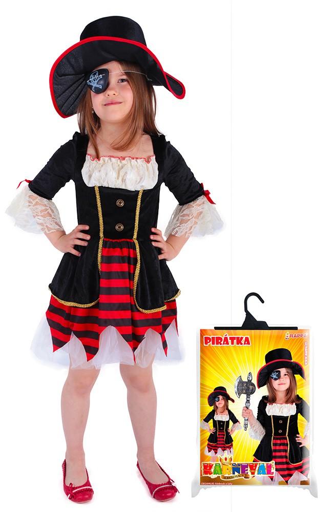 karnevalový kostým pirátka DELUXE, vel. M