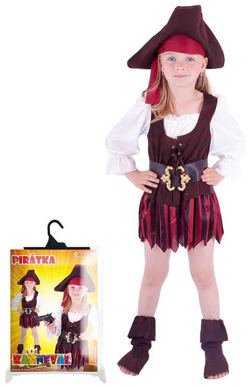 karnevalový kostým pirátka, klobouk, boty,
