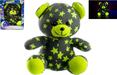 Medvídek svítící ve tmě 21cm šedo/žlutý