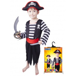 Karnevalový kostým pirát s čepicí vel. XS,S,M