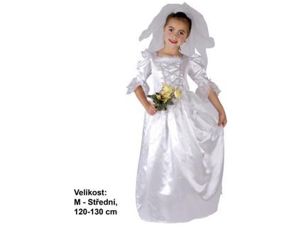 - Kostým na karneval Nevěsta, 120-130cm