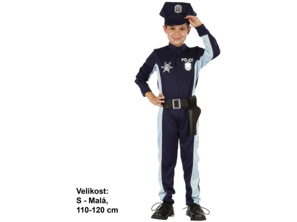Kostým na karneval Policista, 110-120cm