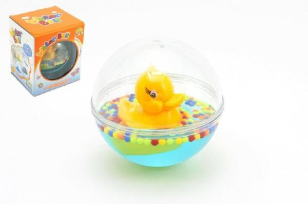 Kačenka plovoucí v kouli s vodou pro nejmenší v krabici 12m+