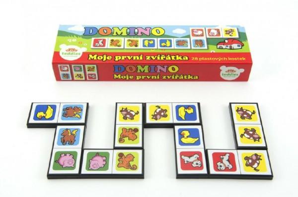 Domino Moje první zvířátka 28ks společenská hra v krabičce 21x6x3cm