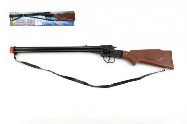 Pistole/Puška kapslovka plast 65cm 8 ran na kartě