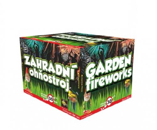 Zahradní ohňostroj 64 ran 30 mm (rovný + šikmý moždíř)