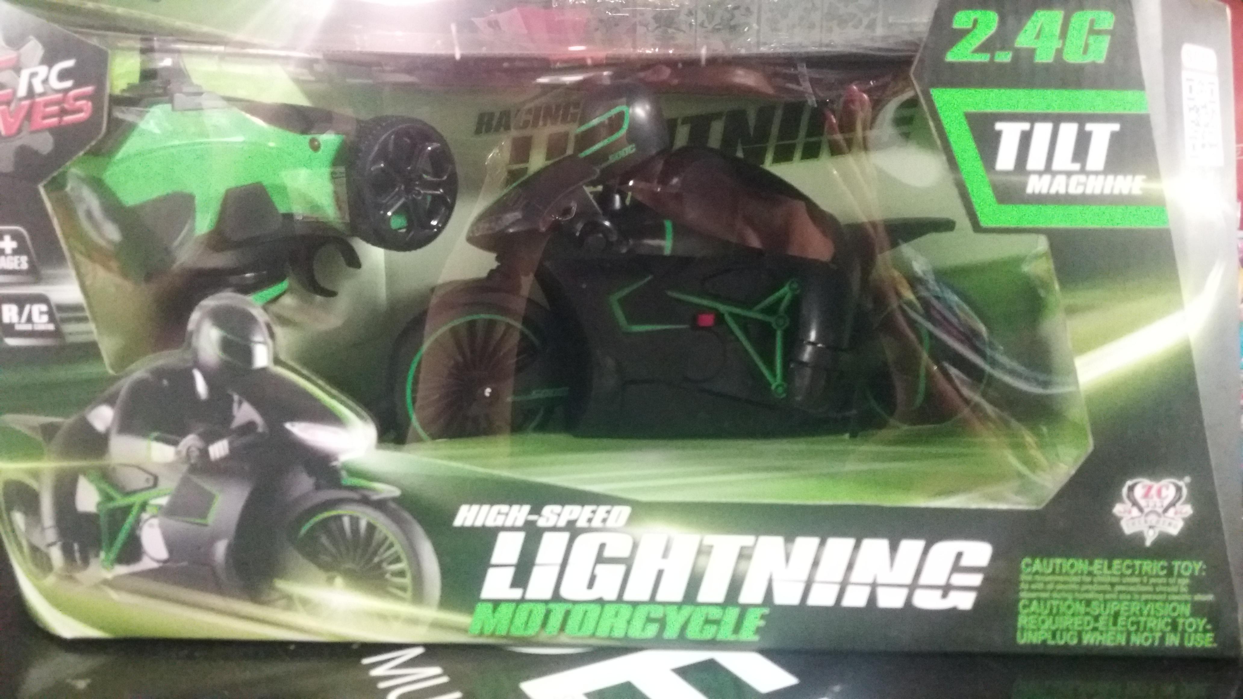 Motorka s řidičem na ovladání R/C