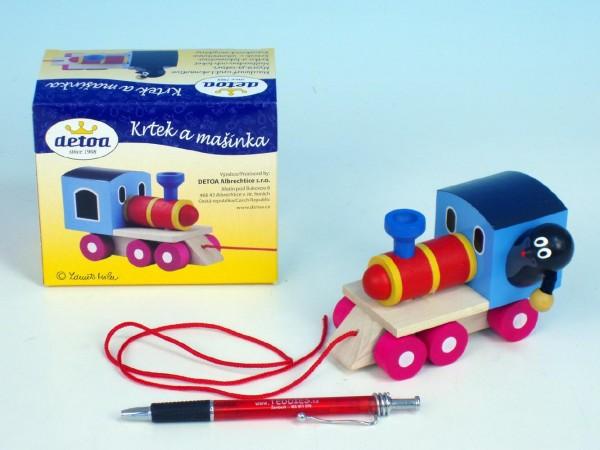 Fotografie Dřevěné hračky - dřevěný vláček - Krtek a mašinka