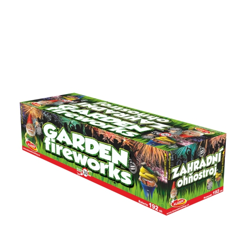 Zahradní ohňostroj 192 ran 30 mm (rovný + šikmý moždíř)