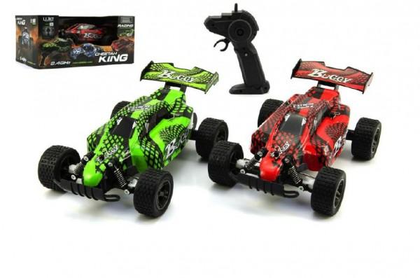 Auto RC Buggy plast 22cm s adaptérem na baterie asst 2 barvy v krabici 31x15x19c