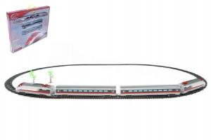 Vlak Bullet Train + dráha 190x121cm plast na baterie se zvukem se světlem v krab