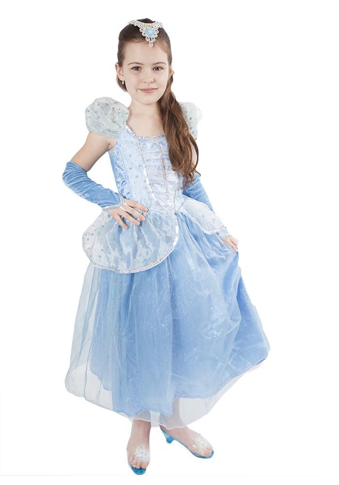 karnevalový kostým princezna Modrá hvězda, vel. M