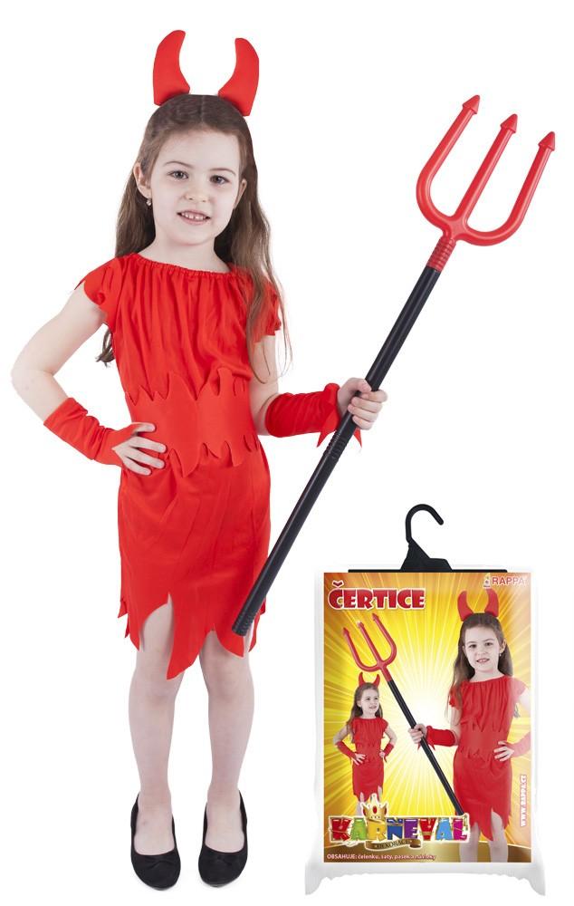 karnevalový kostým čertice červená, vel. S
