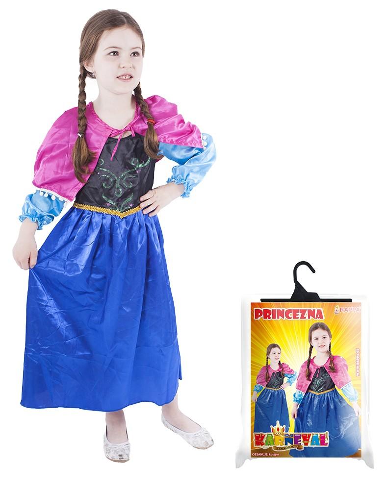 karnevalový kostým princezna zimní království, vel. S