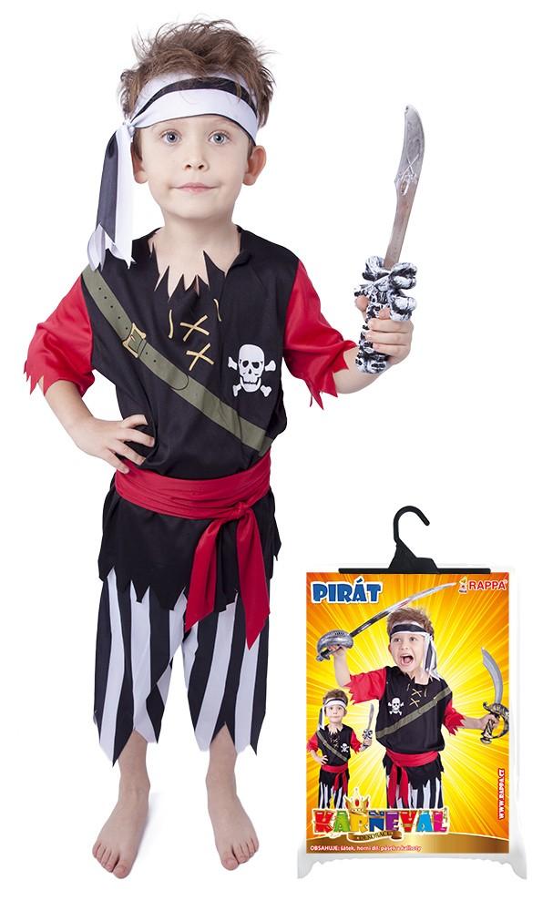 karnevalový kostým pirát s šátkem vel. M