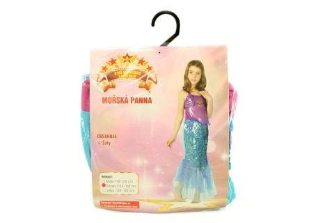 Fotografie Šaty na karneval - Mořská panna, 120 - 130 cm