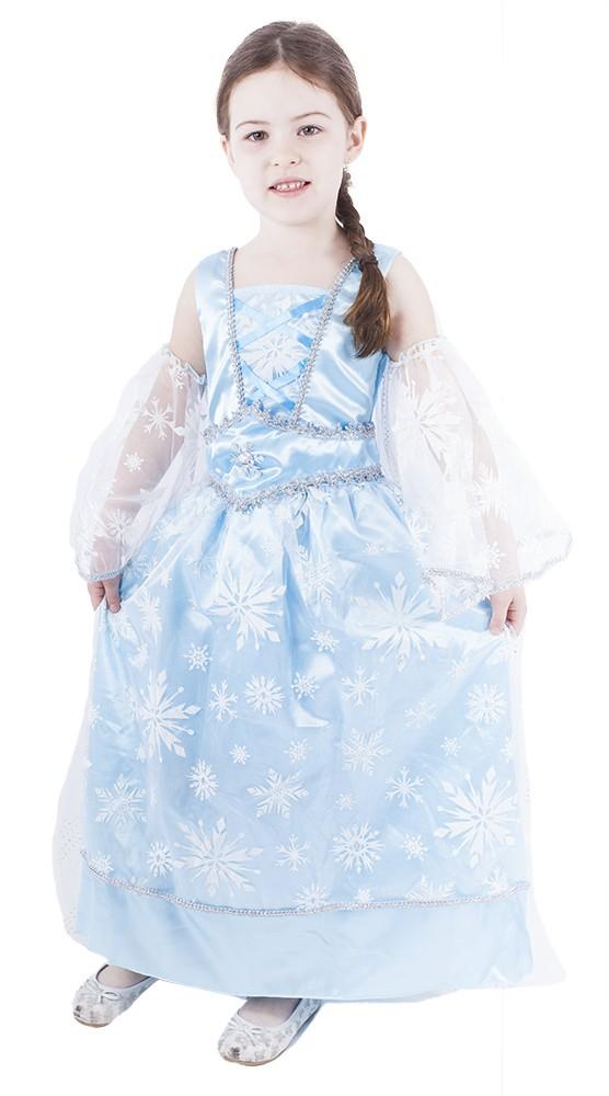 karnevalový kostým princezna zimní modrá