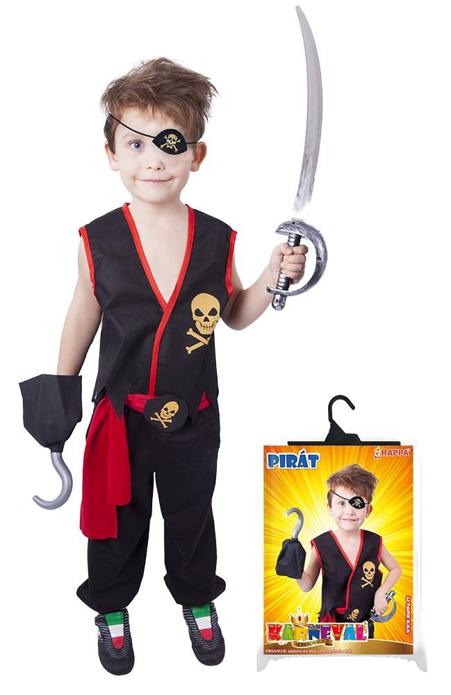 karnevalový kostým pirát s vestou,