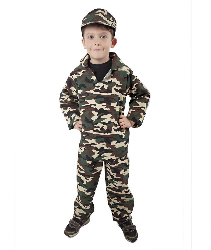 karnevalový kostým ARMY - voják, dětský,