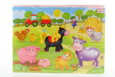 Pěnové puzzle 24 dílků farma