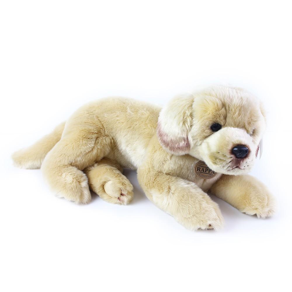 plyšový pes labrador ležící, 38 cm