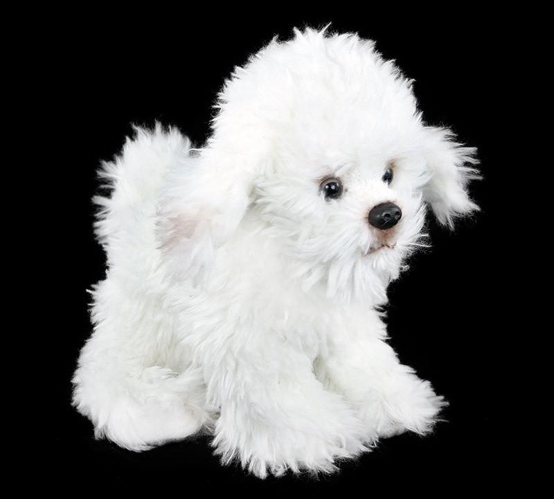 plyšový pes bišonek sedící, 26 cm
