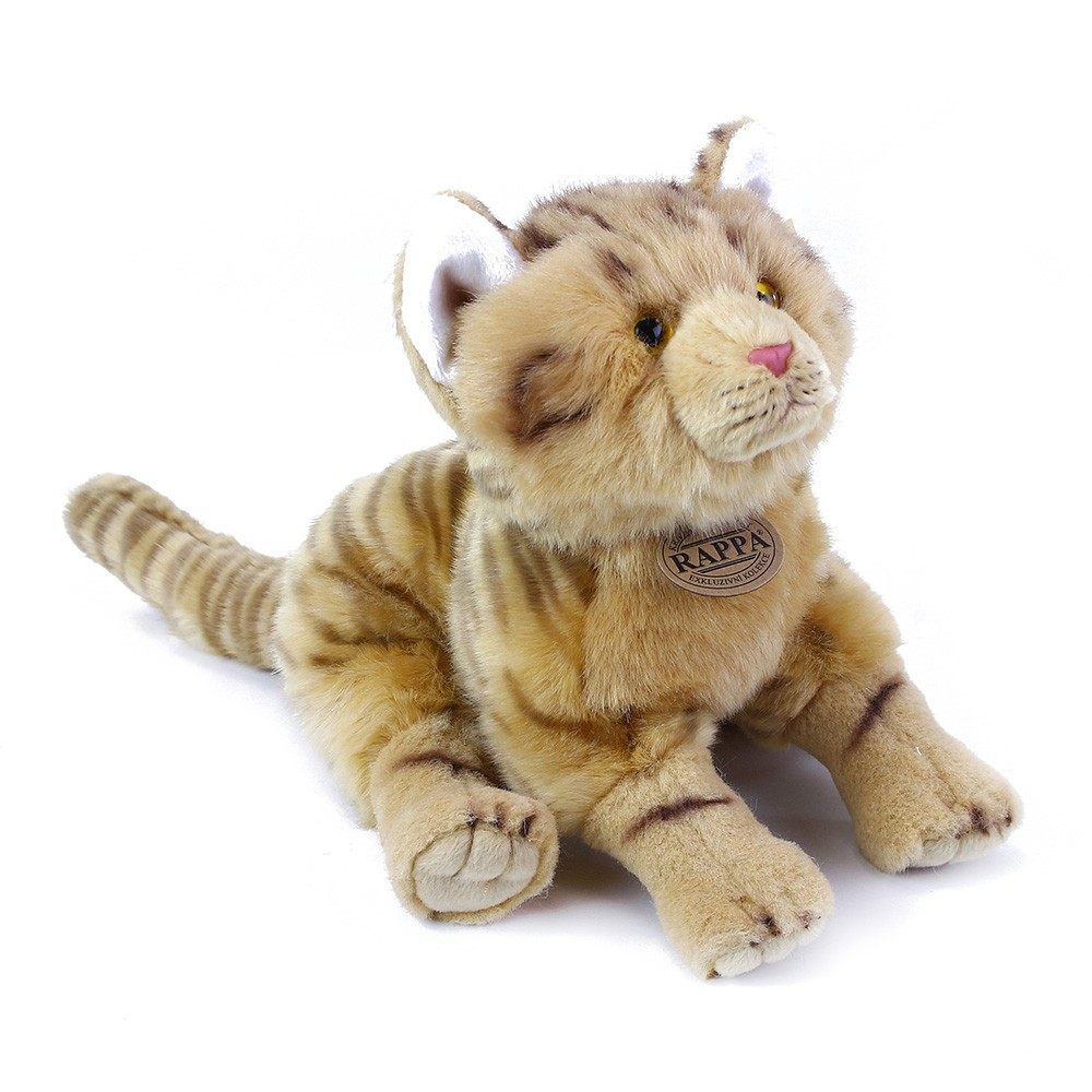 Plyšová kočka rezavá 28 cm