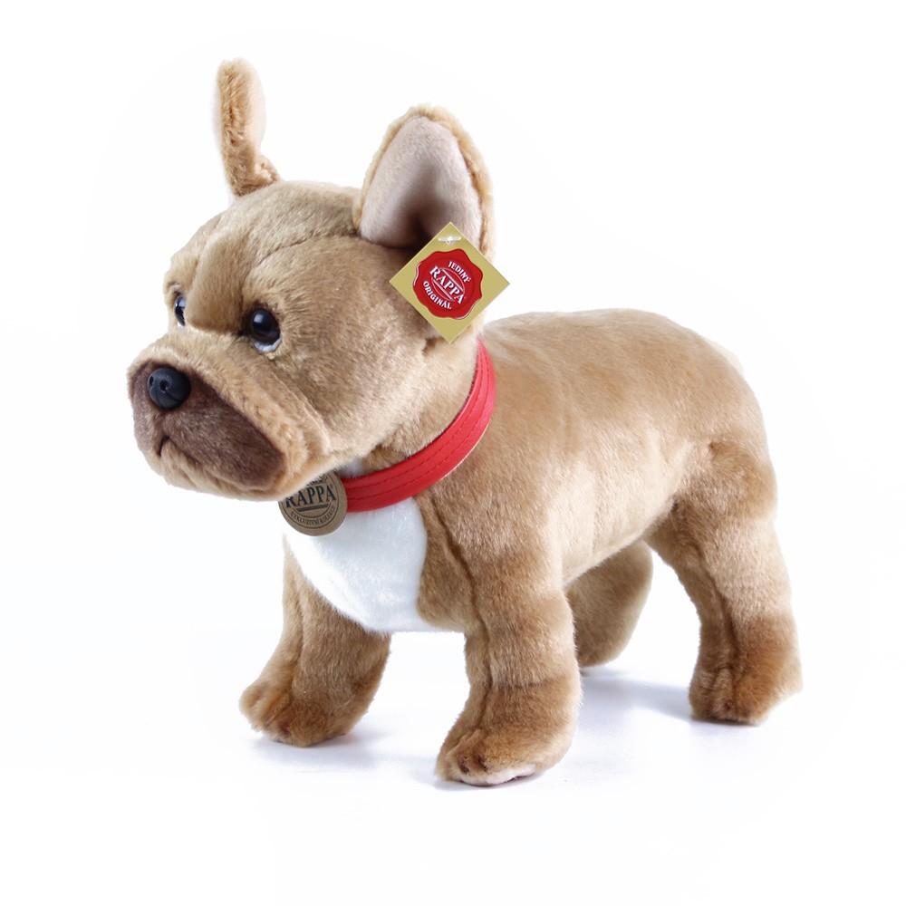 plyšový pes francouzský buldoček světle-hnědý 30 cm