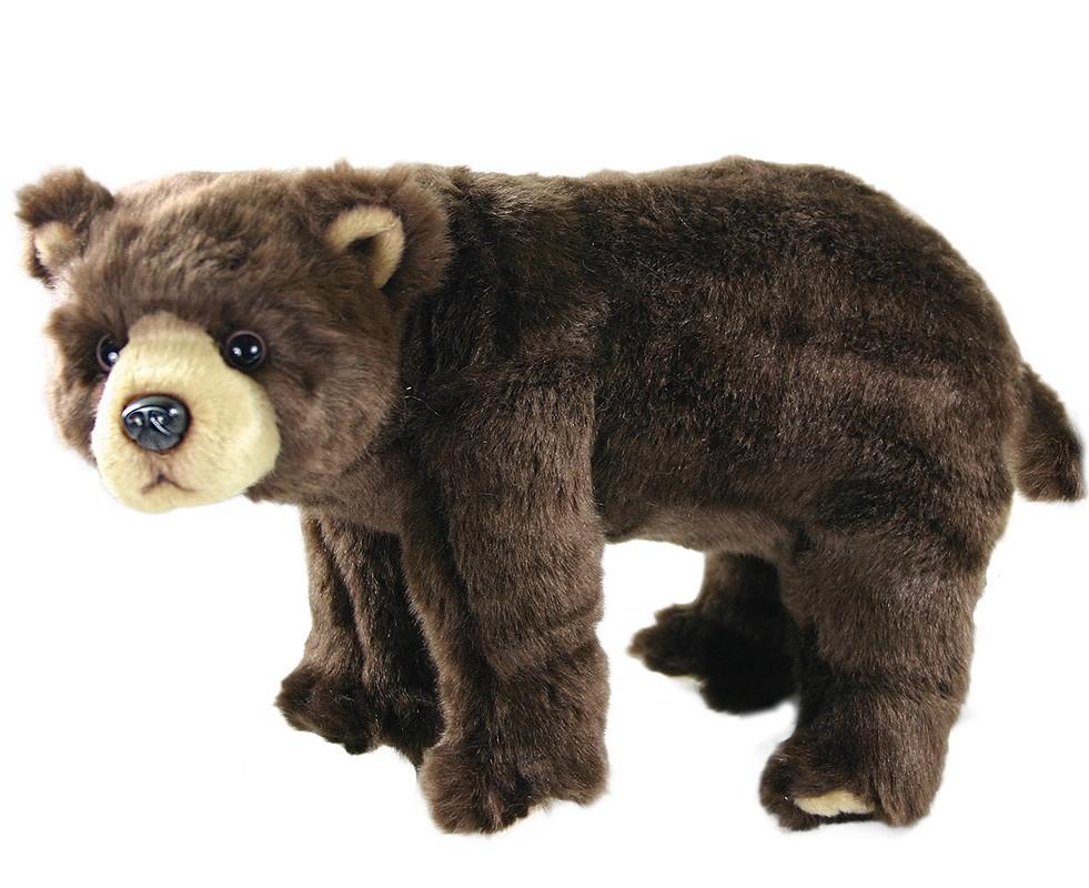 plyšový medvěd hnědý stojící, 40 cm