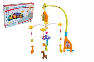 Kolotoč nad postýlku žirafy plast hrající v krabici 52x36x8cm 0+