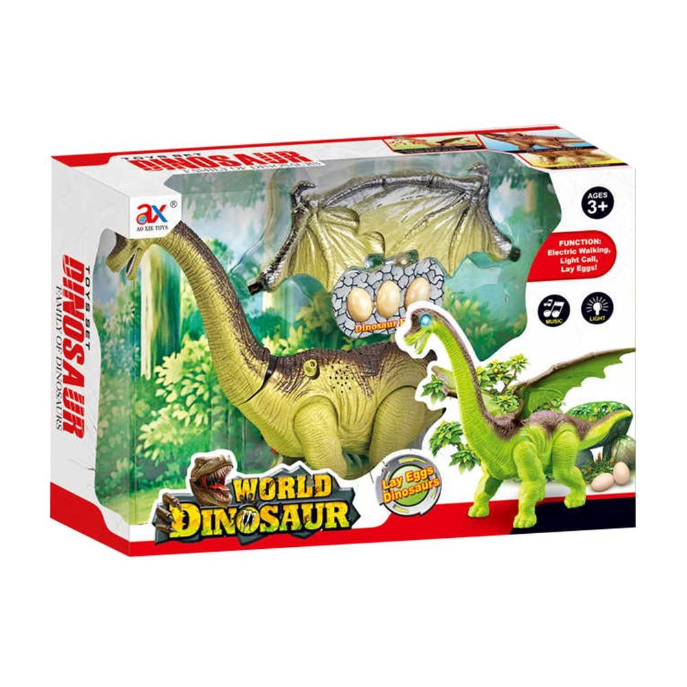 dinosaurus chodí a klade vejce se zvukem 2 druhy