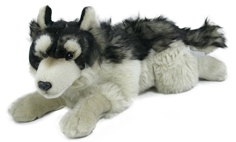 Plyšový vlk ležící 35 cm