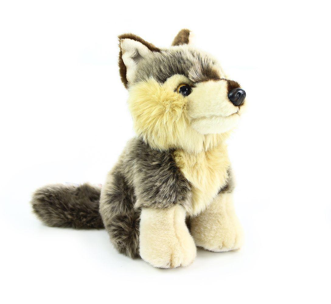 plyšový vlk sedící 30 cm