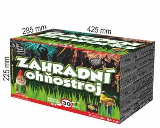 Zahradní ohňostroj 64 ran 30 mm (rovný + šikmý moždíř